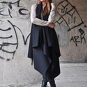 Одежда handmade. Livemaster - original item Black cashmere coat. Handmade.