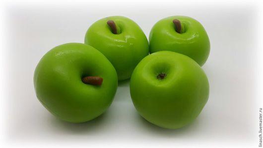 Мыло ручной работы. Ярмарка Мастеров - ручная работа. Купить Зеленое яблочко. Handmade. Зеленый, мыло ручной работы