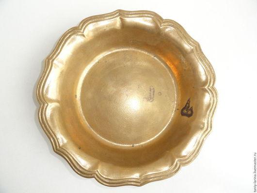 Винтажная посуда. Ярмарка Мастеров - ручная работа. Купить Блюдо большое, ваза для фруктов, Германия. Handmade. Блюдо, латунь, посуда