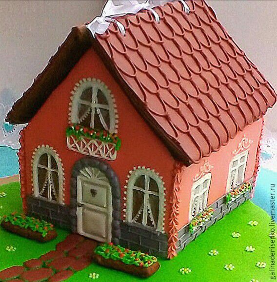 Gingerbread house on the lawn .Gingerbread box, Gingerbread Cookies Set, Rostov-on-Don,  Фото №1