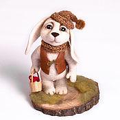 """Куклы и игрушки ручной работы. Ярмарка Мастеров - ручная работа """"Лесничий"""" валяный заяц. Handmade."""