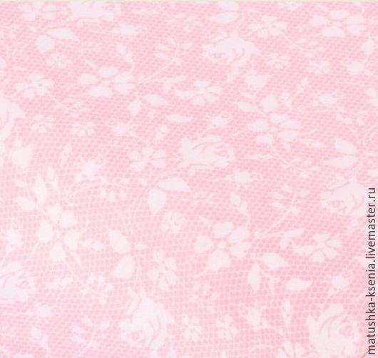 """Шитье ручной работы. Ярмарка Мастеров - ручная работа. Купить Ткань Германия """"Кружевная роза розовый"""" Новый год для тильды пэчворк. Handmade."""