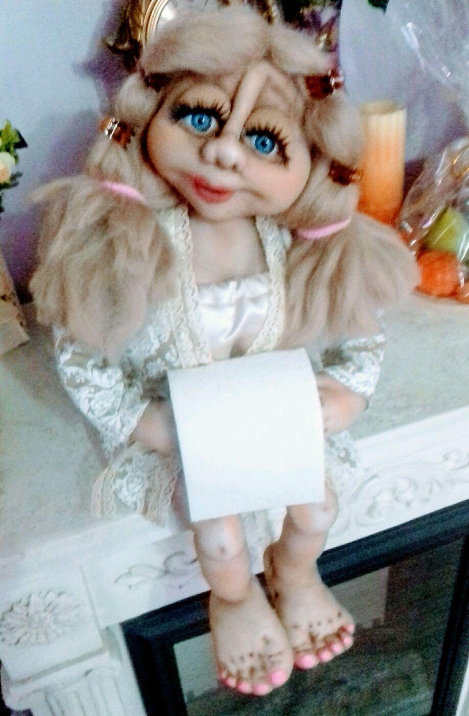 Кукла - газетница и держатель для туалетной бумаги, Ванная комната, Тверь, Фото №1
