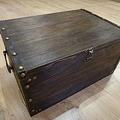 """Короб ручной работы. Ярмарка Мастеров - ручная работа Сундук деревянный / короб для хранения """"Хранитель"""". Handmade."""
