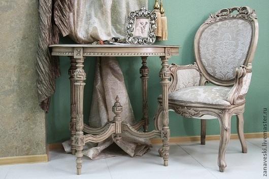 Мебель ручной работы. Ярмарка Мастеров - ручная работа. Купить Кресло 19 век. Handmade. Бежевый, реставрация, Мебель, спальня
