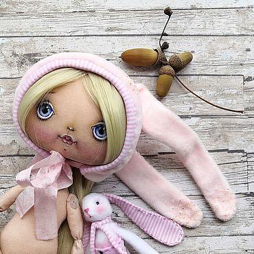 Dolls & toys handmade. Livemaster - original item Doll: doll Bunny. Handmade.