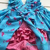 """Платья ручной работы. Ярмарка Мастеров - ручная работа Комплект для девочки """"Фламинго"""". Handmade."""
