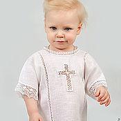 Работы для детей, handmade. Livemaster - original item Baptismal shirt Vologda lace 213. Handmade.