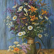 Картины и панно handmade. Livemaster - original item Summer bouquet. Two thousand nineteen. Oil painting. Handmade.