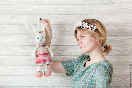 Игрушки животные, ручной работы. Ярмарка Мастеров - ручная работа. Купить Николе розовый заяц игрушка, мягкая игрушка кролик с длинными ушками. Handmade.