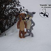 "Куклы и игрушки handmade. Livemaster - original item ""There once was a dog""  the wolf and the dog(dry felting). Handmade."