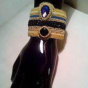 Украшения ручной работы. Ярмарка Мастеров - ручная работа Браслет с агатом и кристаллом. Handmade.