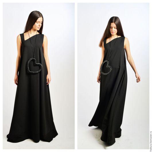 """Платья ручной работы. Ярмарка Мастеров - ручная работа. Купить Платье """"Maxi Black """" D0020. Handmade. Теплое платье"""