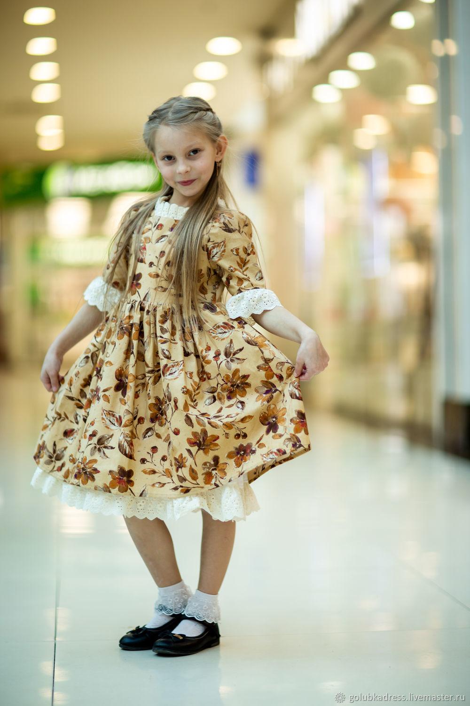 Одежда для девочек, ручной работы. Ярмарка Мастеров - ручная работа. Купить Платье'Осень'. Handmade. Коричневый, платье на девочку
