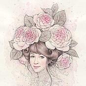 Картины и панно ручной работы. Ярмарка Мастеров - ручная работа Английская роза. (Специальная цена 18500р). Handmade.