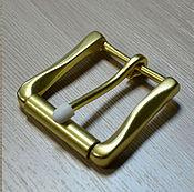 Фурнитура для сумок ручной работы. Ярмарка Мастеров - ручная работа B5-40 - Пряжка для ремня. Литая латунь 40мм. Handmade.