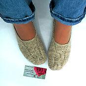 """Обувь ручной работы. Ярмарка Мастеров - ручная работа Вязаные тапочки-следки """"Деревенька"""" носки вязанные. Handmade."""
