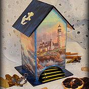 """Для дома и интерьера ручной работы. Ярмарка Мастеров - ручная работа Чайный домик """"Уют маяка"""". Handmade."""