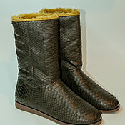 Обувь ручной работы handmade. Livemaster - original item Ugg boots, Python skin, custom, high quality!. Handmade.