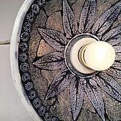 Для дома и интерьера handmade. Livemaster - original item Ceramic lamp with printed pattern