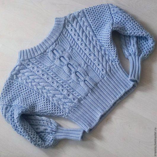 """Кофты и свитера ручной работы. Ярмарка Мастеров - ручная работа. Купить Джемпер """"Стиль"""". Handmade. Голубой, стильный джемпер"""