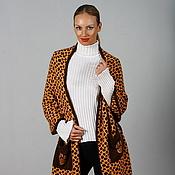 """Одежда ручной работы. Ярмарка Мастеров - ручная работа Вязаный жакет-накид """"Леопард"""". Handmade."""