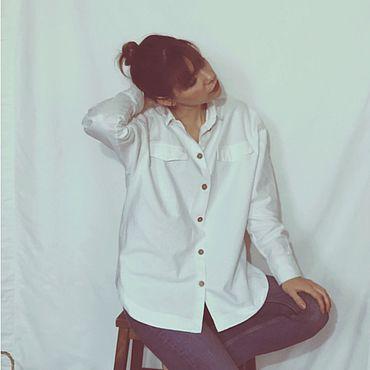 Одежда ручной работы. Ярмарка Мастеров - ручная работа Рубашка оверсайз из фланели. Handmade.
