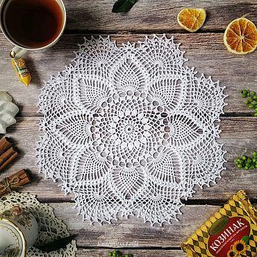 Для дома и интерьера ручной работы. Ярмарка Мастеров - ручная работа Салфетка ручной работы из 100% хлопка. Handmade.