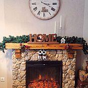 """Для дома и интерьера ручной работы. Ярмарка Мастеров - ручная работа Слово """"Home"""" с рамкой для фото, деревянные слова, интерьерные слова. Handmade."""