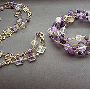 Украшения handmade. Livemaster - original item Necklace-transformer VIOLET ametrine, amethyst, citrine. Handmade.