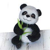 Куклы и игрушки ручной работы. Ярмарка Мастеров - ручная работа Панда Ян. Валяная игрушка из шерсти. Handmade.