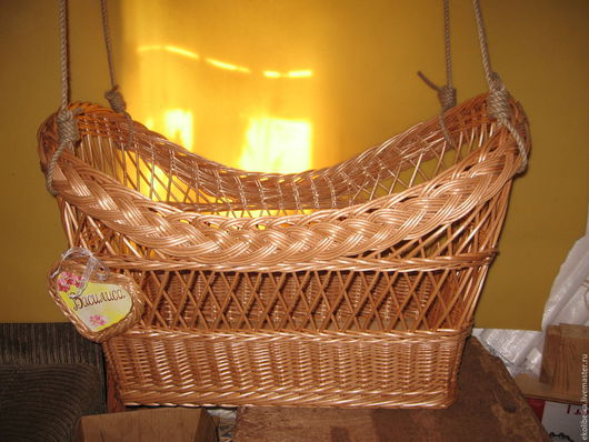 Детская ручной работы. Ярмарка Мастеров - ручная работа. Купить Колыбелька подвесная плетеная из натуральной лозы, люлька, зыбка. Handmade.