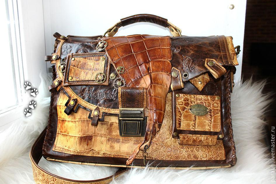 Стимпанк-портфель женский, Женские сумки, Новосибирск, Фото №1