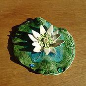 Фен-шуй и эзотерика ручной работы. Ярмарка Мастеров - ручная работа лотос подставка под благовония керамика. Handmade.