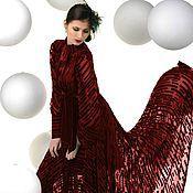 Платья ручной работы. Ярмарка Мастеров - ручная работа Бархатное платье . Вишневый бархат деворе. Handmade.