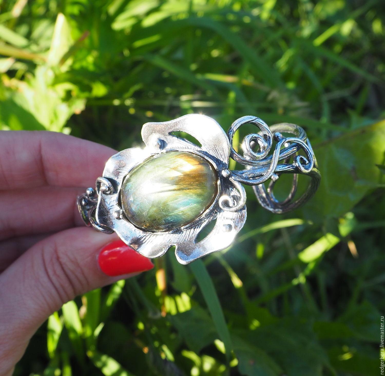 """Браслет """"Juno"""" лабродарит, серебрение 925 пробы, Браслет из бусин, Кострома,  Фото №1"""
