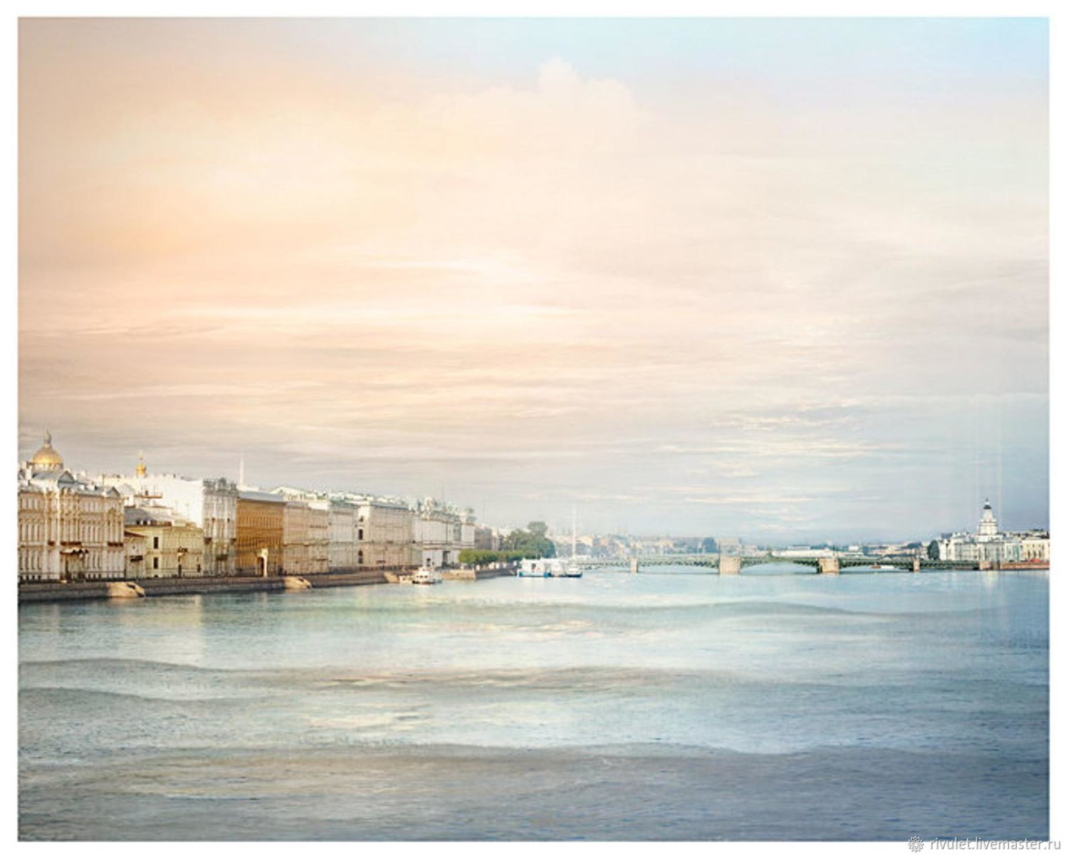 The photo for an interior urban landscape by the water 'dawn of the white nights', Fine art photographs, Moscow,  Фото №1