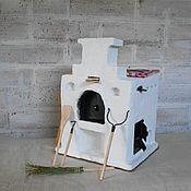 Мебель для кукол ручной работы. Ярмарка Мастеров - ручная работа Печка для кукольного дома. Большая.. Handmade.