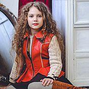 Одежда ручной работы. Ярмарка Мастеров - ручная работа Детская кожаная куртка жилет. Handmade.