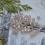 Бусины ручной работы. Ярмарка Мастеров - ручная работа Биконусы Пудровый 4х4 мм. Handmade.
