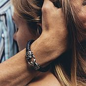 Украшения handmade. Livemaster - original item Silver Scorpion Bracelet   Skin. Handmade.