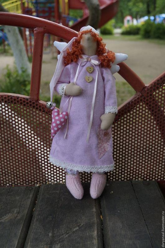 Куклы Тильды ручной работы. Ярмарка Мастеров - ручная работа. Купить Сонный ангел, Варвара. Handmade. Розовый, ангел тильда