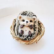 Куклы и игрушки handmade. Livemaster - original item hedgehog Shurshunchik. Fulled (felted) wool.. Handmade.
