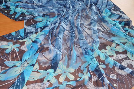 """Шитье ручной работы. Ярмарка Мастеров - ручная работа. Купить Шифон шелковый """"Armani"""" Италия.. Handmade. Ткани для шитья"""