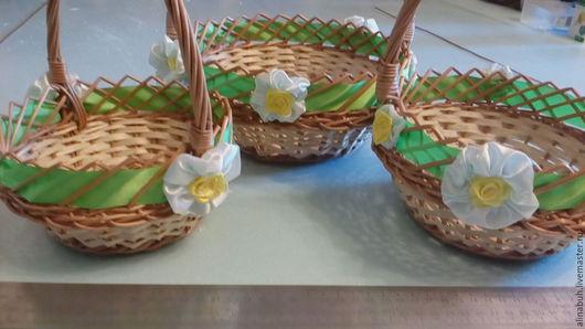 Подарки на Пасху ручной работы. Ярмарка Мастеров - ручная работа. Купить Комплект круглых пасхальных корзинок. Handmade. Комбинированный