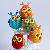 Куклы и игрушки ручной работы. Ярмарка Мастеров - ручная работа Совушка - вязаная игрушка для малышей. Handmade.