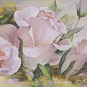 """Картины и панно ручной работы. Ярмарка Мастеров - ручная работа """" Розы"""". Handmade."""