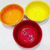 Посуда ручной работы. Ярмарка Мастеров - ручная работа Глубокие керамические тарелочки резной серии. Handmade.