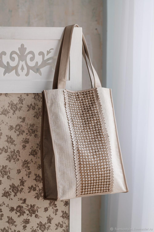 Сумка с плетением и отделочным кантом_весна/лето_Fisenko brand