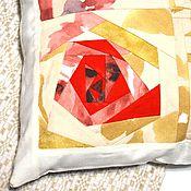Для дома и интерьера handmade. Livemaster - original item Cushion, patchwork pillow case on pillow, heart gift. Handmade.